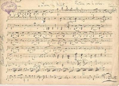 Scéne de Ballet: Fantaisie pour le Violon