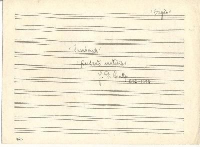 Sarabande Andante cantabile Priere du Matin = Morning Prayer 1840-1893