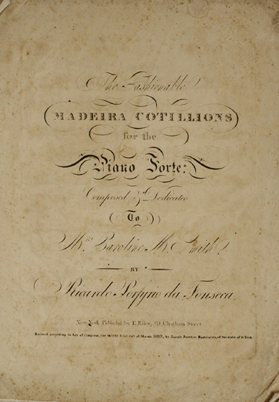 Madeira Cotillions : for the piano forte
