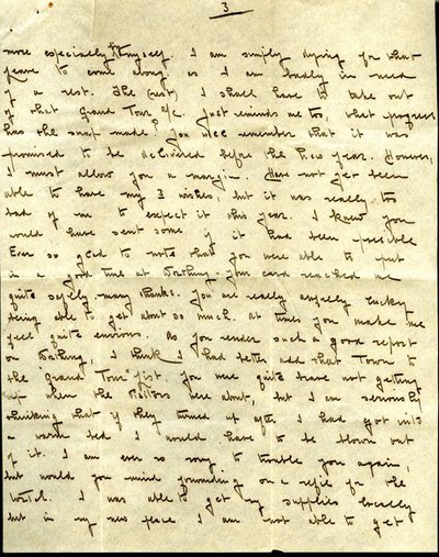 Letter from Corporal Arthur Brannan to Monica Roberts