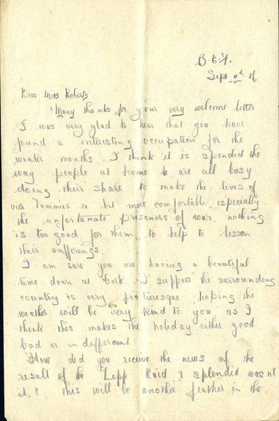 Herbert Morris R.F.C. Sept 11th 1916