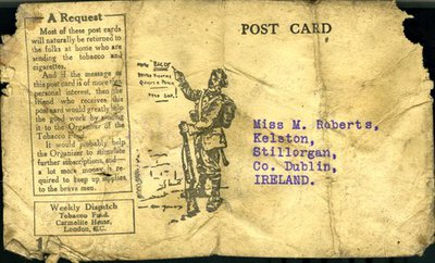 Post card from Private Christopher Fox to Monica Roberts