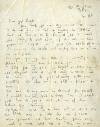Herbert Morris R.F.C. 26th January 1917