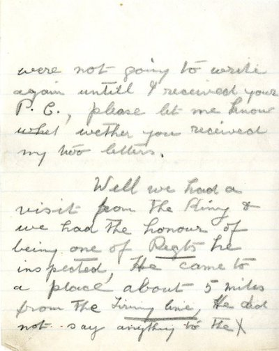 Letter from Pte Joseph Elley to Monica Roberts