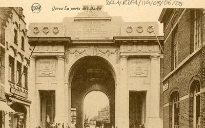 Black and white photographs of France after WW1