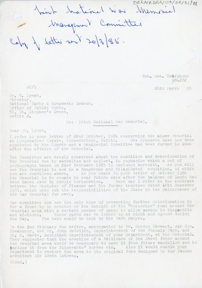 Letter to Mr. N. Lynch from H.C. Heather