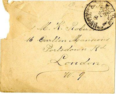 Letter DCLA/RDFA.01.08.025 from Belgian Soldier José Verachtert to Monica Roberts