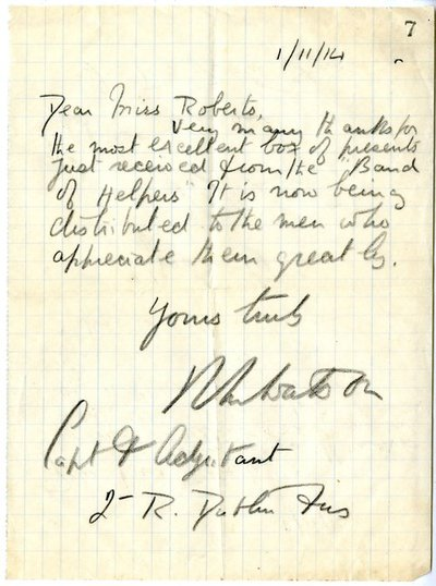 Letter from Watson to Monica Roberts