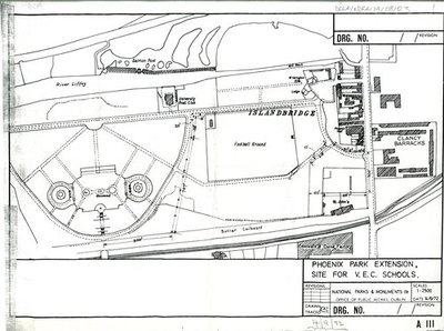 Architectural Drawing of Phoenix Park Extension, site for V.E.C.