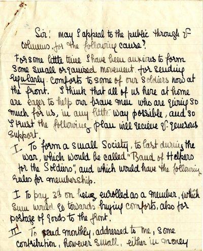 Handwritten press appeal  DCLA/RDFA1.09.147 by Monica Roberts
