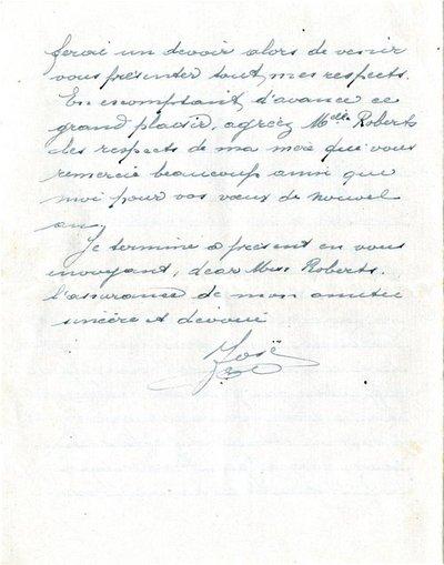 Letter DCLA/RDFA1.09.003 from José Verachtert to Monica Roberts