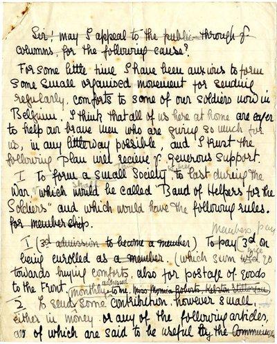 Handwritten press appeal (draft) DCLA/RDFA1.09.147 by Monica Roberts