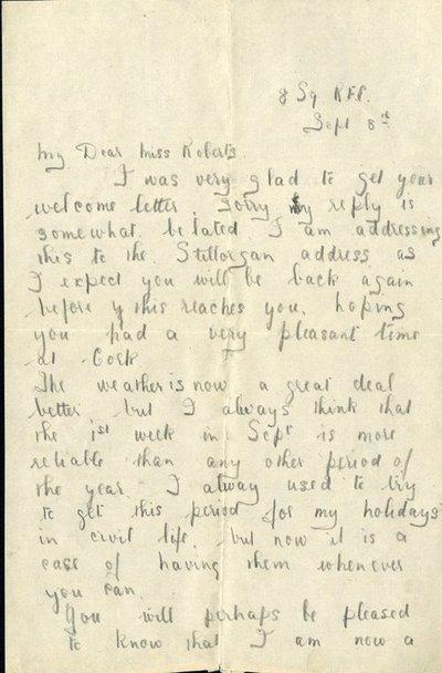 Herbert Morris R.F.C. 8th September 1917