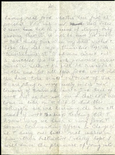 Letter from Sargeant Edward Heafey to Monica Roberts