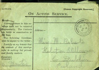Letter DCLA/RDFA1.02.004 from Private S. Martin to Monica Roberts