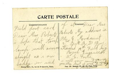 Postcard DCLA/RDFA.01.08.094 from Edward Mordaunt to Monica Roberts