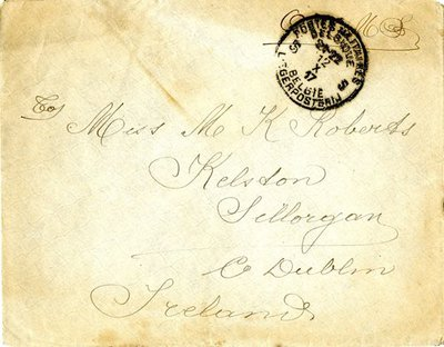 Letter DCLA/RDFA.01.08.016 from Belgian Soldier J. Verachtert to Monica Roberts