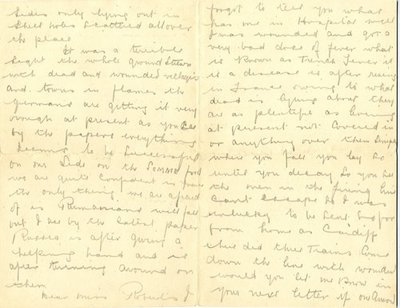 Letter from Sgt John Brooks to Monica Roberts