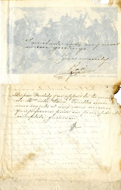 Letter DCLA/RDFA.01.08.020 from Belgian Soldier J. Verachtert to Monica Roberts (page 3 of 4)