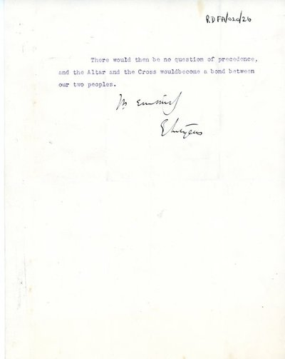 Letter from Sir Edwin Lutyens, 5 Eaton Gate, London, S.W.1 to [Sir Andrew] Jameson.