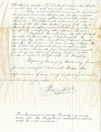 Letter from José Verachtert to Monica Roberts  12 September 1918