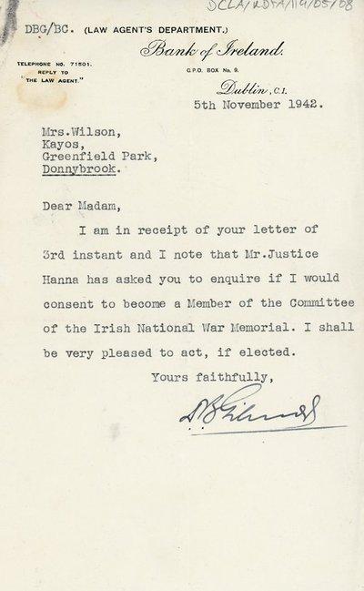 Letter of acceptance