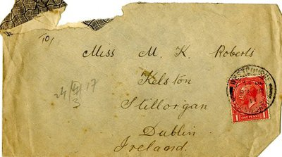 Envelope for letter DCLA/RDFA.01.04.042 from Driver William De Combe to Monica Roberts