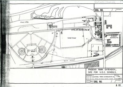Architectural Drawing of Phoenix Park Extension, site for V.E.C. schools