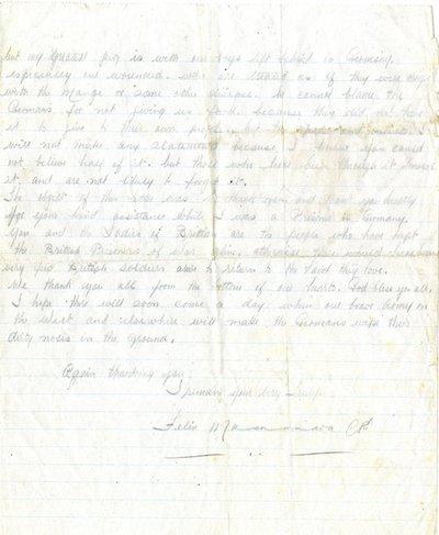 Letter DCLA/RDFA1.09.009 from Felim MacNamara to Monica Roberts