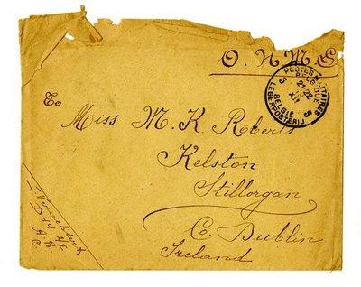 Letter DCLA/RDFA.01.08.031 from Belgian Soldier José Verachtert to Monica Roberts