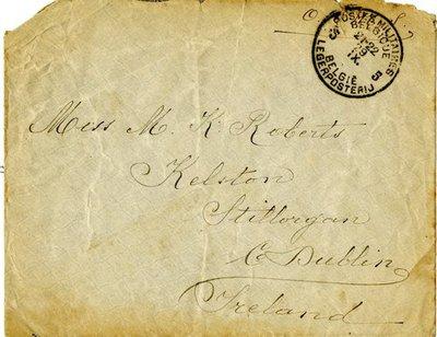 Letter DCLA/RDFA.01.08.013 from Belgian Soldier J. Verachtert to Monica Roberts