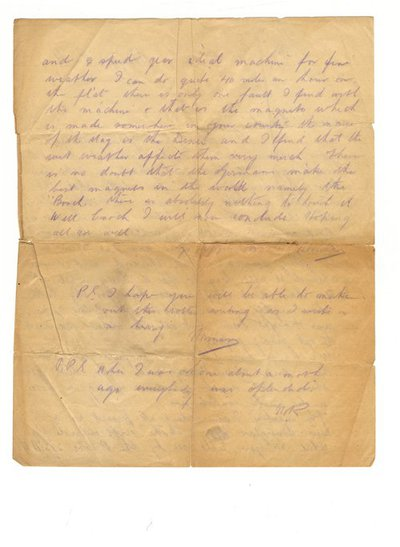 Letter from Norman to Enoch Kavanagh, 4 April 1916
