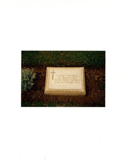 Photograph of Henry Kavanagh gravestone