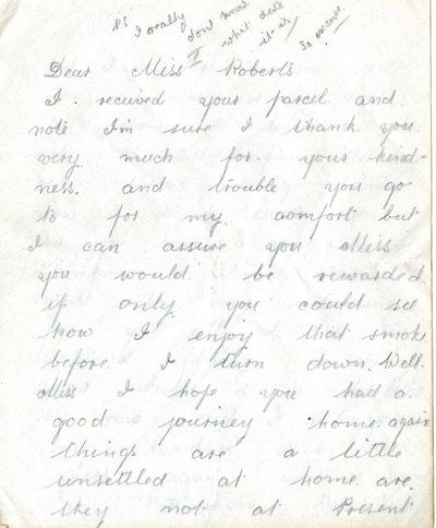 Letter DCLA/RDFA1.09.008 from William De Combe to Monica Roberts