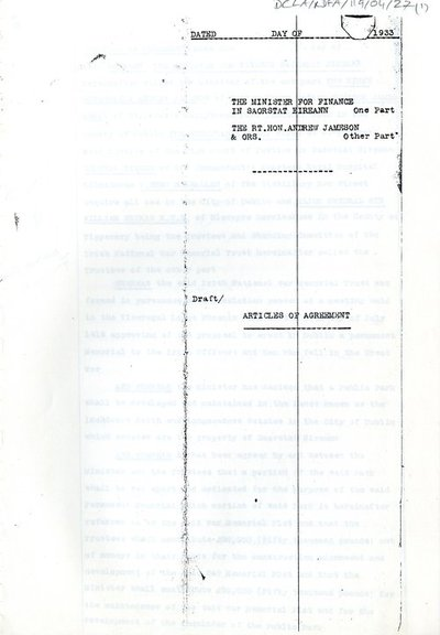 Copy of Draft Articles of Agreement