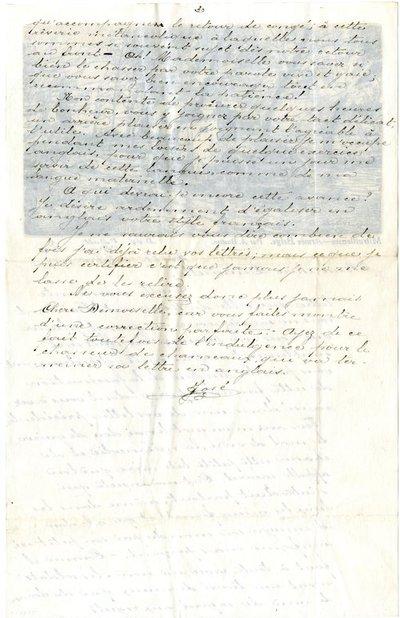 Letter DCLA/RDFA.01.08.020 from Belgian Soldier J. Verachtert to Monica Roberts
