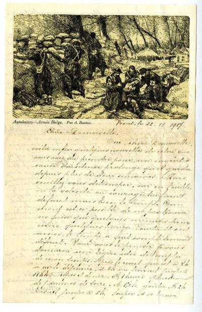 Letter DCLA/RDFA.01.08.028 from Belgian Soldier José Verachtert to Monica Roberts