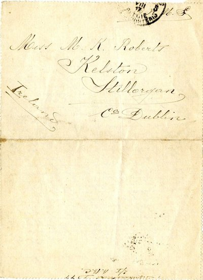 Letter DCLA/RDFA.01.08.07 from Belgian Soldier J. Verachtert to Monica Roberts