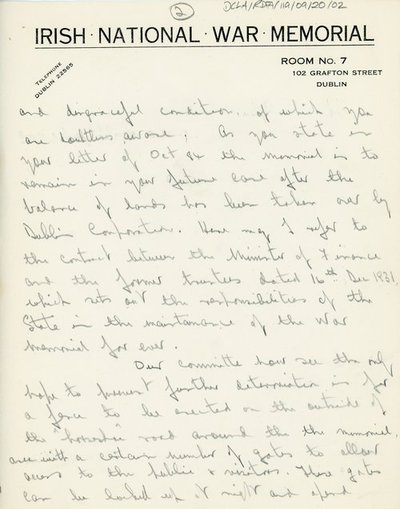 Letter from H.C. Heather to Mr N. Lynch