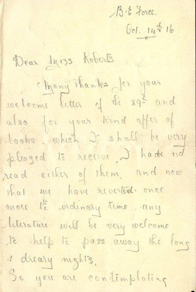 Herbert Morris R.F.C. 14th October 1916