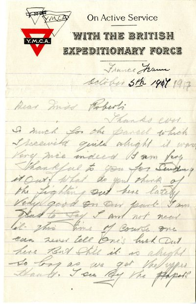 Letter from George Soper to Monica Roberts