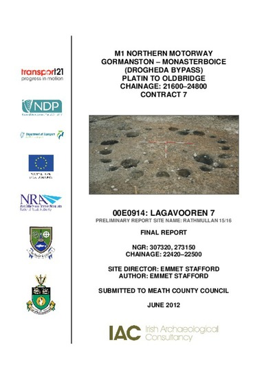 Archaeological excavation report, 00E0914 Lagavooren 7 , County Meath.