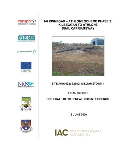 Archaeological excavation report,  E2660 Williamstown 1,  County Westmeath.