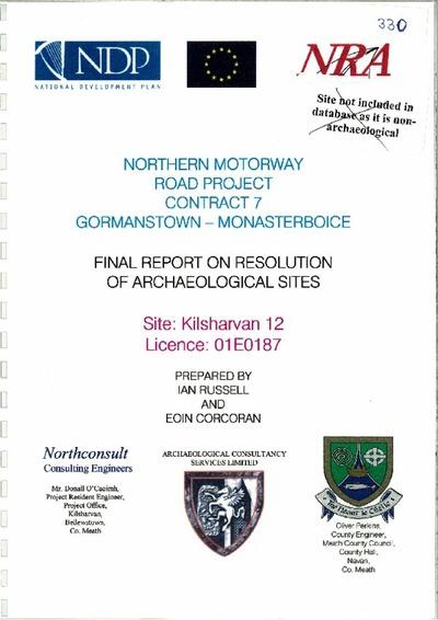 Archaeological excavation report, 01E0187 Kilsharvan 12, County Meath.