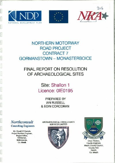 Archaeological excavation report, 01E0195 Shallon 1, County Meath.