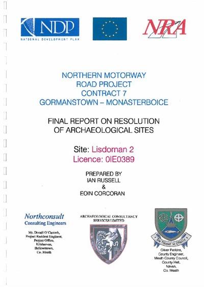 Archaeological excavation report, 01E0389 Lisdornan 2, County Meath.