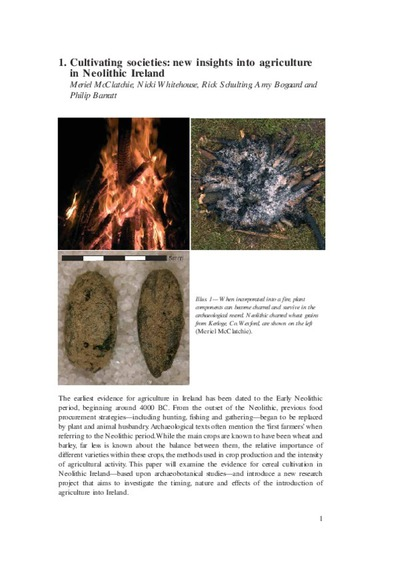 Cultivating societies: new insights into agriculture in Neolithic Ireland