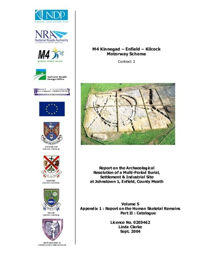 Archaeological excavation report,  02E0462 Johnstown 1 Vol 5 Appendix 1 Part 2,  County Meath.