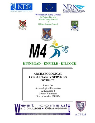 Archaeological excavation report,  02E0926 Kinnegad 2,  County Westmeath.