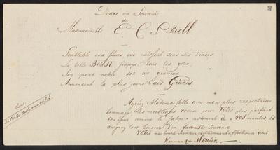Albumbijdrage in het album amicorum van Elisabeth Constantia Sophia Roëll door Harman R. du Moulin